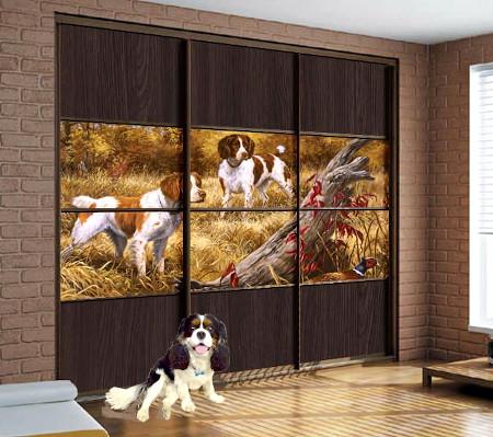 Встроенные шкафы-купе Винтаж Энималс с фотопечатью